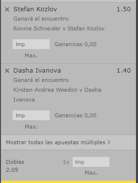 TENIS ITF M25 CALABASAS + ITF W15 CANCUN STAKE 1 BET365 <br>http://pic.twitter.com/hhmiZusoMJ