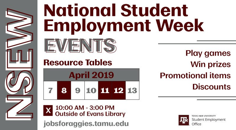 Check Out The Listed Days And Times We Will Have Resource Tables Full Of Prizes Giveaways You Can Win As A Student Employee See There