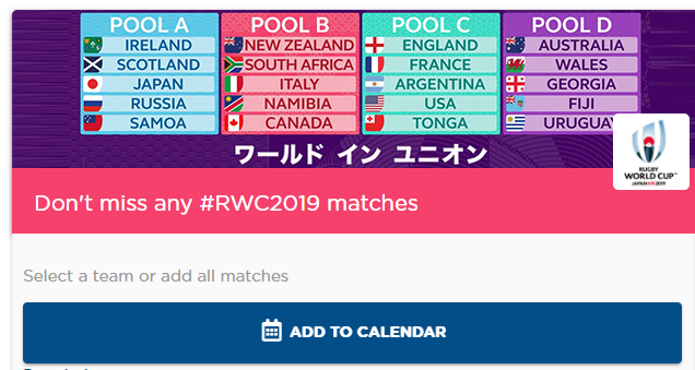test Twitter Media - Get every #RWC2019 into your calendar!   https://t.co/v8ZMBsQYpS https://t.co/IQWvaJDARH