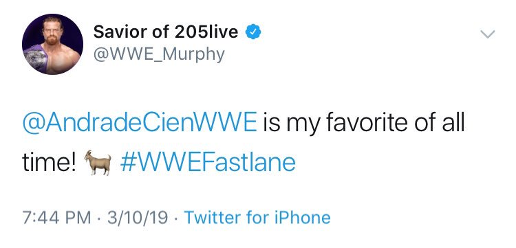What about @AndradeCienWWE?