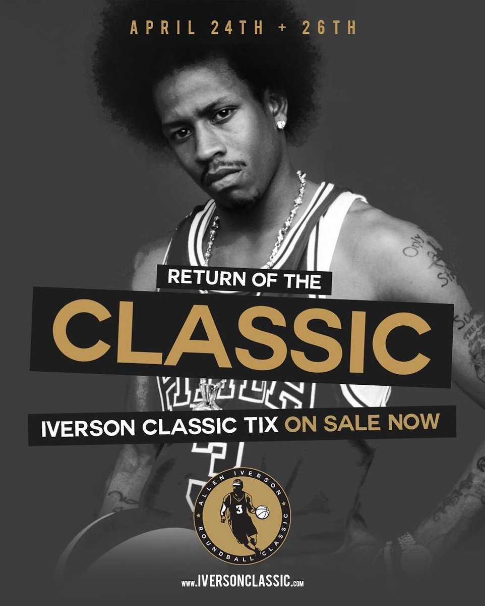 Tickets are on sale at http://iversonclassic.com April 24-26th at Souderton Area high school in the Philadelphia Metro Area!!!