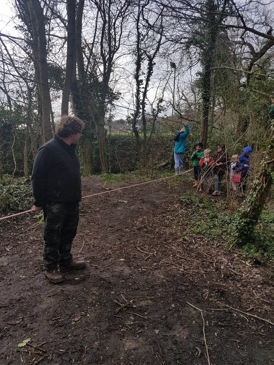 It's all happening here at Forest Schools.  Balancing in the woods.  Feeling at one with nature. @WildInspired