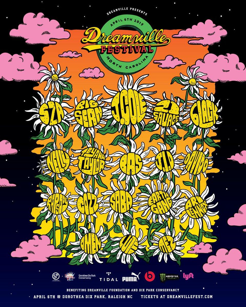 We backkkkkkkkk.     DREAMVILLE FEST 2019  APRIL 6TH 🌻 RALEIGH, NC  TICKETS ON SALE AT http://DREAMVILLEFEST.COM  @dreamvillefest @dreamvillE