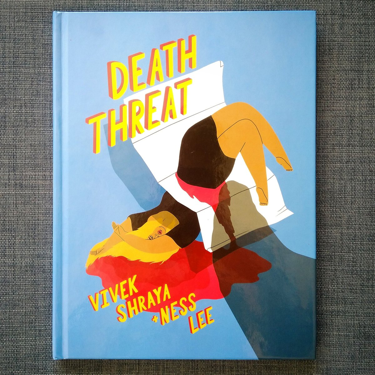 Omg everyone. @vivekshraya + @nessnesslee's #deaththreatcomic is the most stunning, haunting book you will read this year. Read it twice this morning and am completely mesmerized. Order now!! https://arsenalpulp.com/Books/D/Death-Threat …