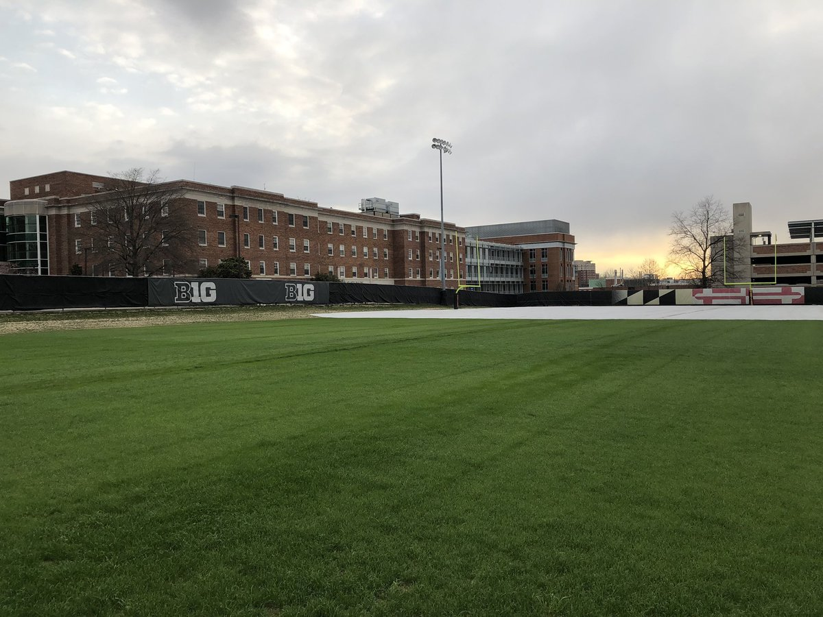 Just  week until spring ball starts!!  Practice fields are looking great, @UMDGroundsCrew <br>http://pic.twitter.com/5hL7MO1PTw