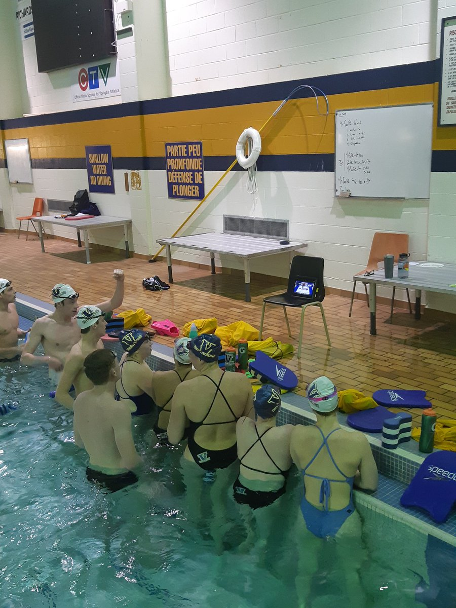 @voyageursswim watching @LUCurling women battle for the national championship vs. @BrockBadgers during a break in practice #veeson3 #hurryhard <br>http://pic.twitter.com/7H8oyfC1M2
