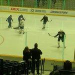 Image for the Tweet beginning: Game 73 morning skate @MapleLeafs