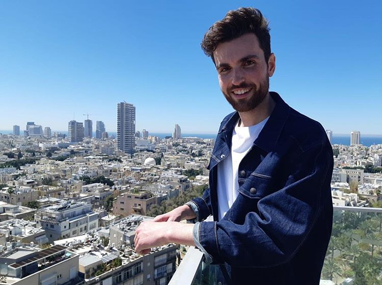 Welcome to Tel Aviv @dunclaurence  #Eurovision2019<br>http://pic.twitter.com/IhUXQWxK4N