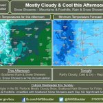 Image for the Tweet beginning: Mostly cloudy skies & cool