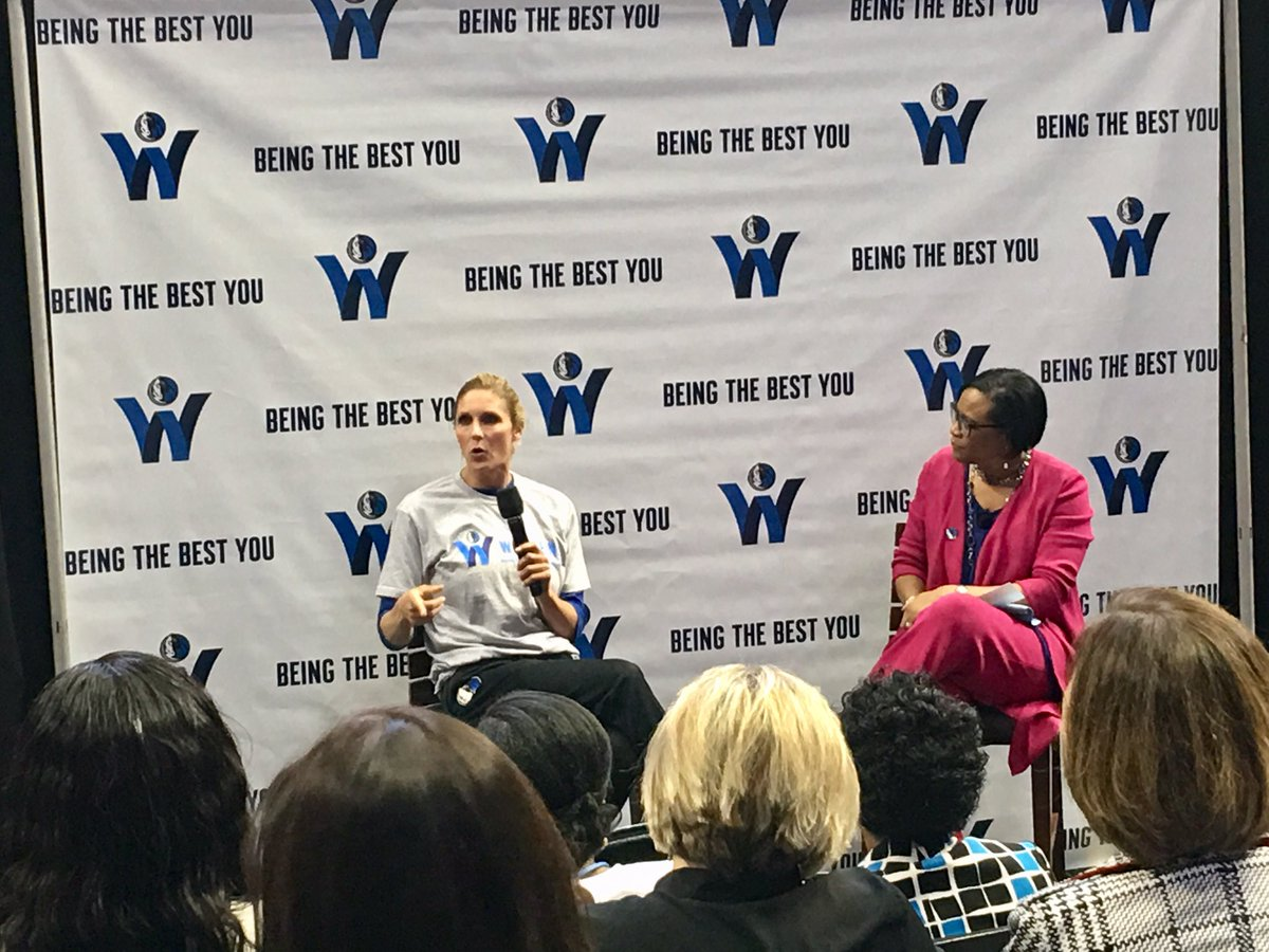 So inspiring to hear from inspiring ladies and spend the afternoon in the company of Godly women and men employees of the Mavs in the audience. Mavs DO Care! Thanks @WomenOfMavs @MavsCare @dallasmavs @jboucek @DanaLarsonFSN @cyntmarshall @mcuban Let's do a full day! 👸👸🏻👸🏽👸🏾