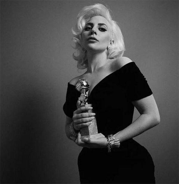 GOLDEN GLOBE AWARDS (#GoldenGlobes)  2016 Best Actress in a Miniseries or Television Film - American Horror Story: Hotel  2019 Best Original Song - Shallow <br>http://pic.twitter.com/SzgzqKcpwW