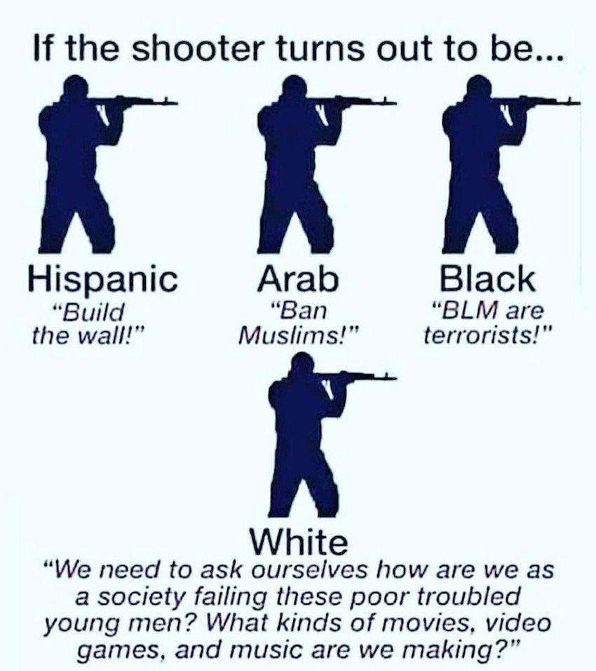 Meme: If The Shooter Is… http://dlvr.it/R17w6z