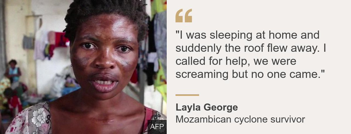 """#CycloneIdai has triggered a """"massive disaster"""" in southern Africa affecting hundreds of thousands if not millions of people, the @UN says. The region has been hit by widespread flooding and devastation affecting Mozambique, Zimbabwe and Malawi.  ➡️ https://bbc.in/2UJxFiH"""