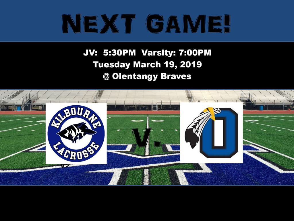 Boys lacrosse travels to @Braves_Lacrosse for tonight's game JV 5:30p / V 7:00p. @WKHSWolves @OhioBoysLax