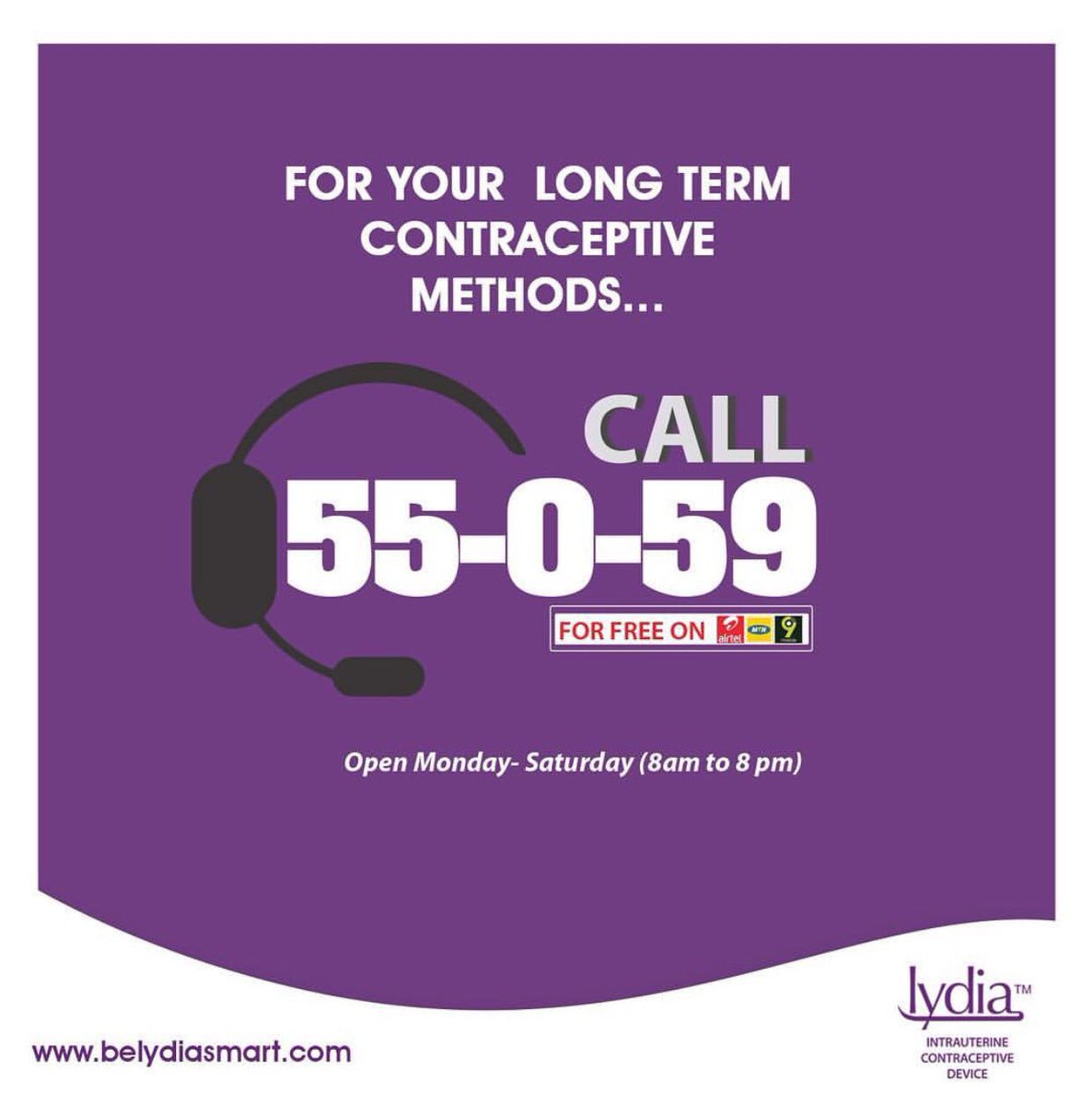 Call 55059 for your long term contraceptive methods. Tag your friends to see this. #belydiasmart #tagafriend <br>http://pic.twitter.com/lIYxkVJjvM