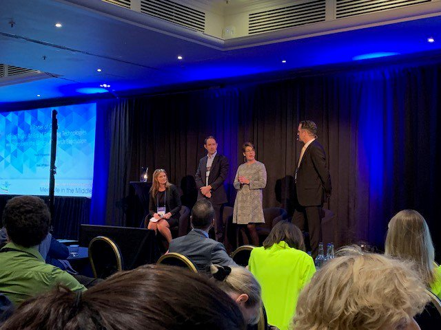 Thrilled to have been onstage today at #SCRS19Europe! The discussion on decentralized/virtual #clinicaltrials was flexibility for both sites and patients. How can this innovation make trials more accessible?
