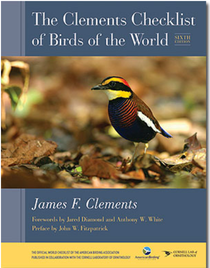 "#TaxonomyDay At the Cornell Lab of Ornithology the @MacaulayLibrary and @Team_eBird keep track of bird taxonomy with the ""Clements Checklist of Birds of the World."" Every August we update the ever-changing list of species, subspecies, and English names #TaxonomistAppreciationDay"