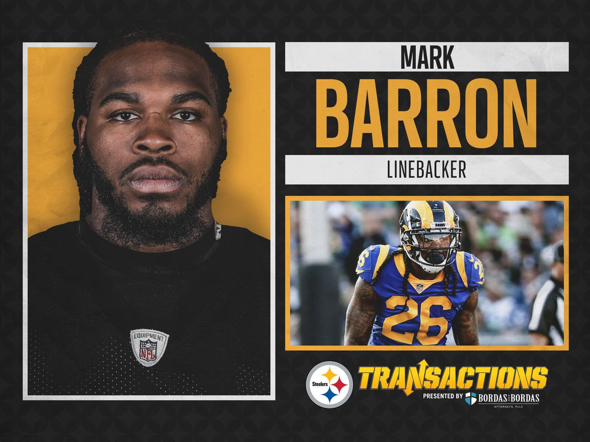 We have signed LB Mark Barron to a two-year deal.  @BordasLaw TRANSACTION:  http:// stele.rs/n7bHex  &nbsp;  <br>http://pic.twitter.com/qT0JFpgkc3