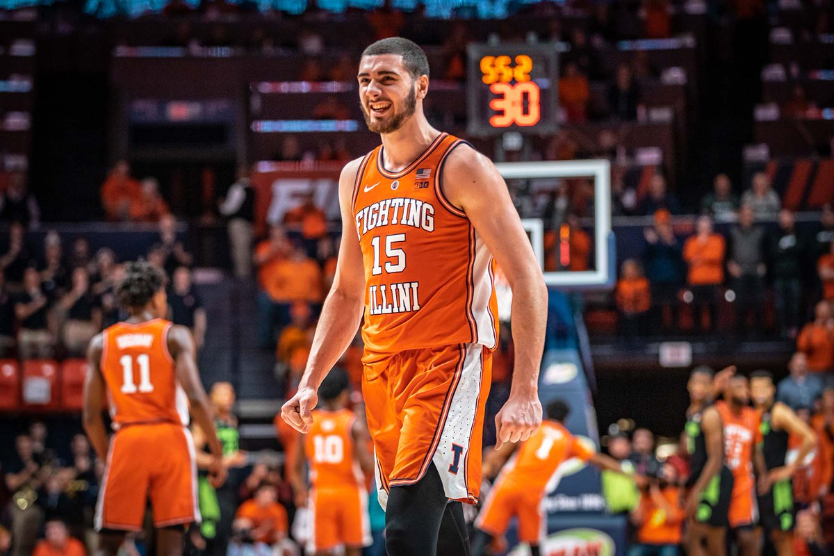 You&#39;ve seen his dance moves, now see his skills at softball.   @IlliniMBB&#39;s Giorgi Bezhanishvili will be throwing out the first pitch at today&#39;s  home opener!<br>http://pic.twitter.com/Gn7iHoFcXe