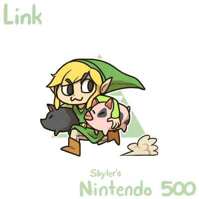 #Nintendo500  031 - (Toon) Link!  Look at this gremlin, I love him so much.   So, pigs exist in Wind Waker, right? Are they related to Moblins? Are they DOMESTICATED Moblins?? I demand answers. <br>http://pic.twitter.com/xLNOh9HR1x