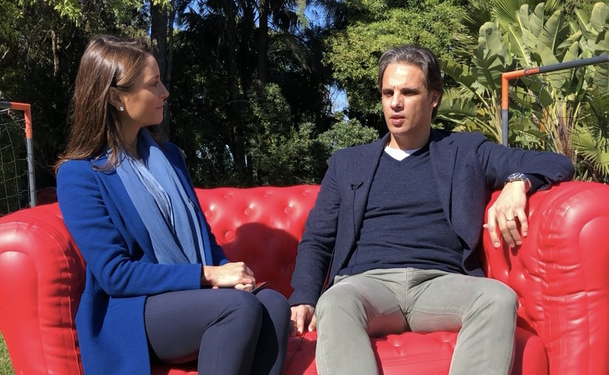 """We set up the red couch at @21nunogomes' garden to talk politics, populism and the future of Europe. Portugal's football star had a few VERY GOOD tips for how EU politicians should engage voters: """"by being more transparent, people would know what they actually do"""". #EUroadrip"""