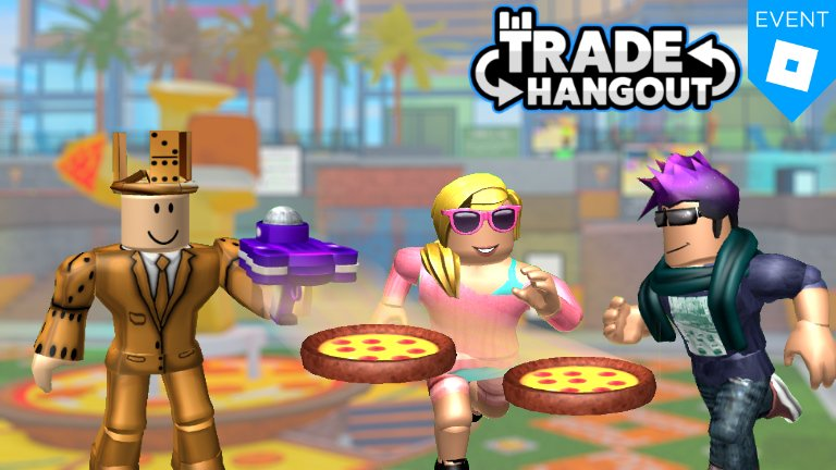 Merely On Twitter Tradehangout Is Part Of Roblox S Pizza Party