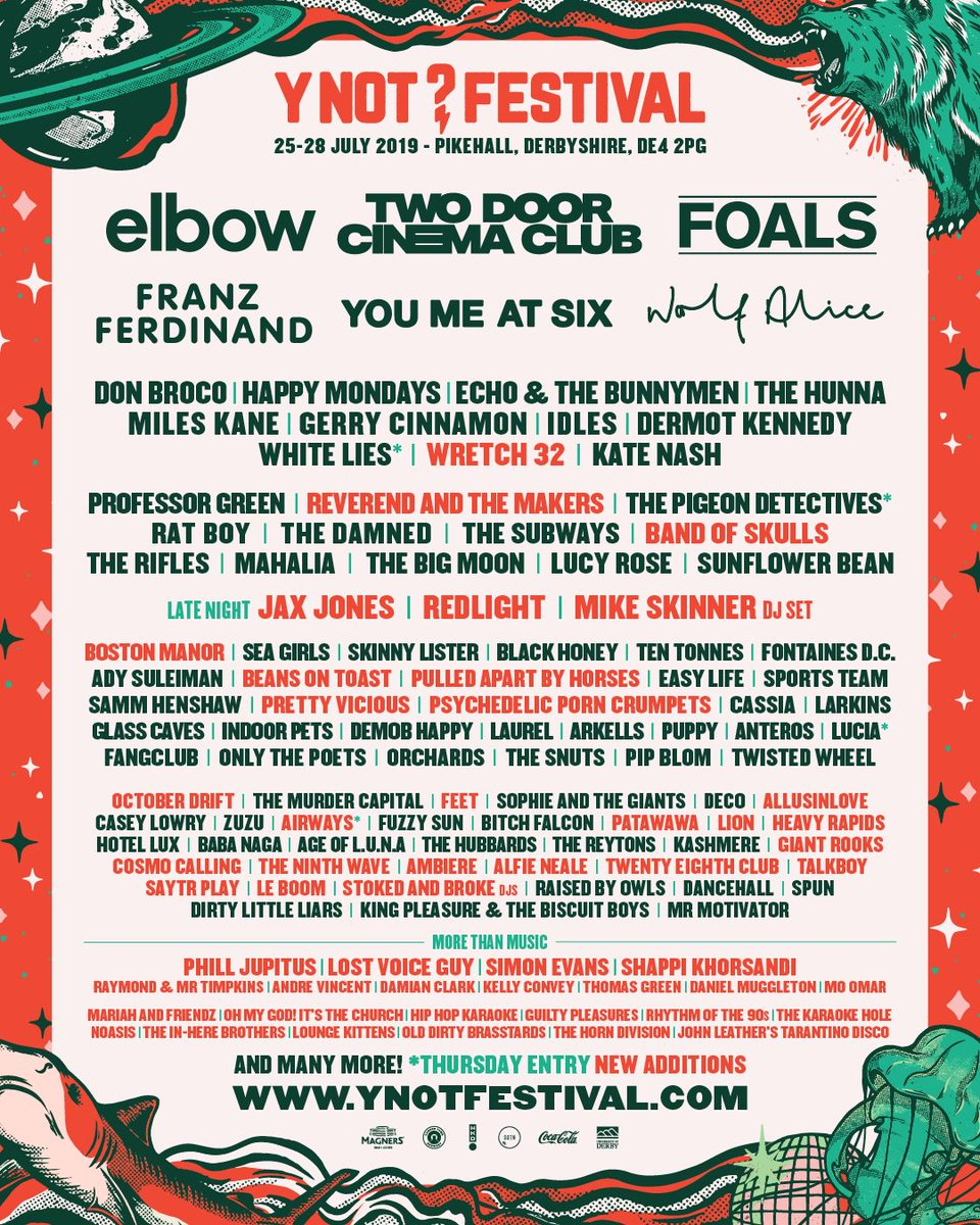 HAPPY MONDAYS play @ynotfestival in Pikehall, Derbyshire 25th - 28th July 2019!! Tickets: https://ynotfestival.com/tickets/ #HappyMondays #ShaunRyder #Bez #Rowetta #GaryWhelan #PaulRyder #MarkDay #DanBroad #YNotFestival #Pikehall #Derbyshire #MusicFestival #Music #Livemusic #Festival