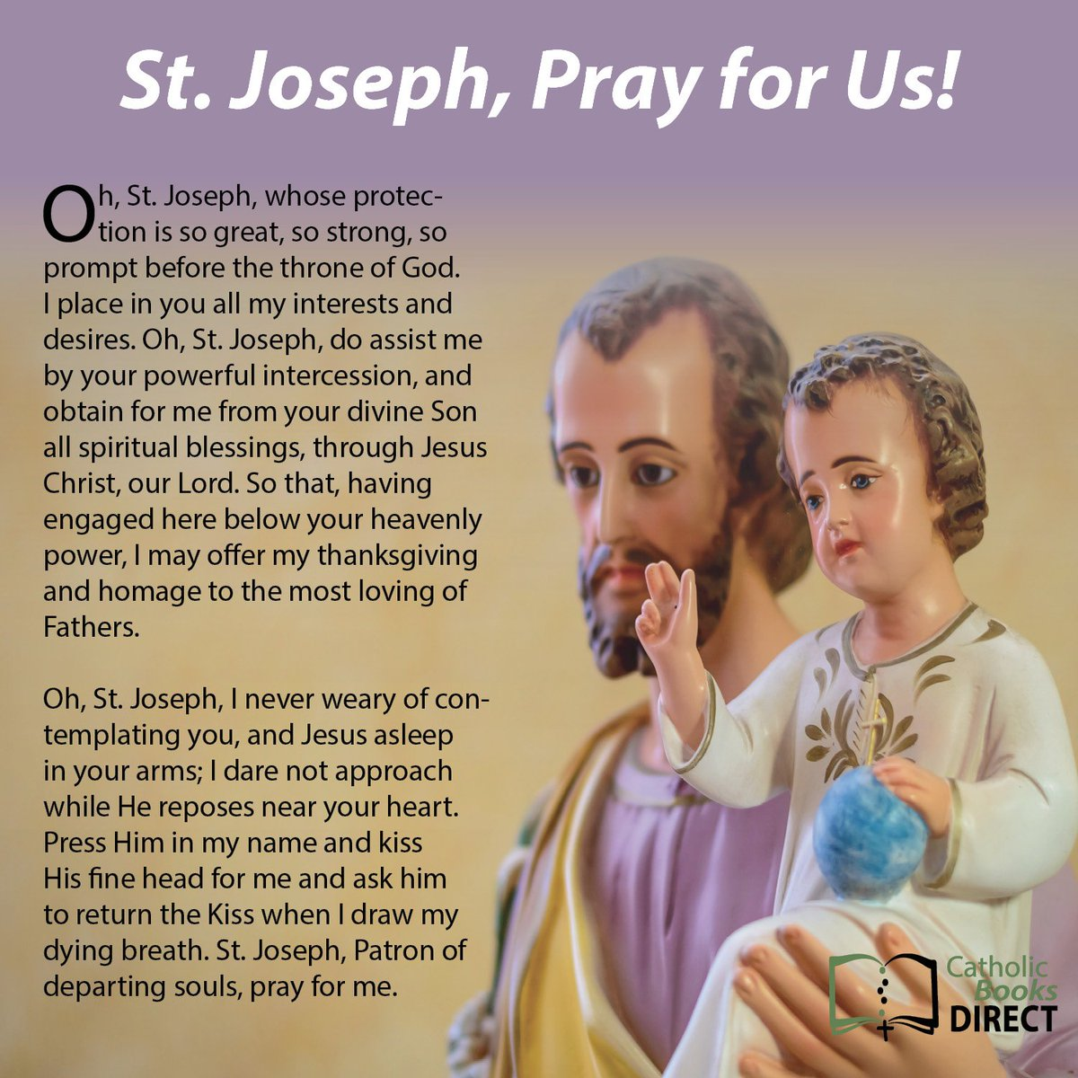#StJoseph, #pray for us! #Catholic #FeastDay #StJosephsDay