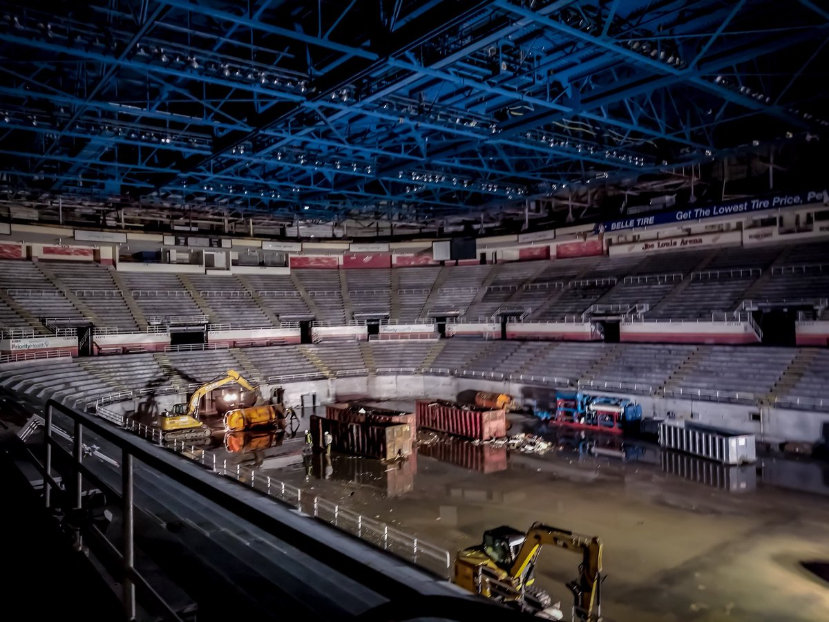 It's hard to say goodbye to a place you couldn't wait to get back to.   One last look before it gets torn down.   #ThanksForTheMemories #RedWings
