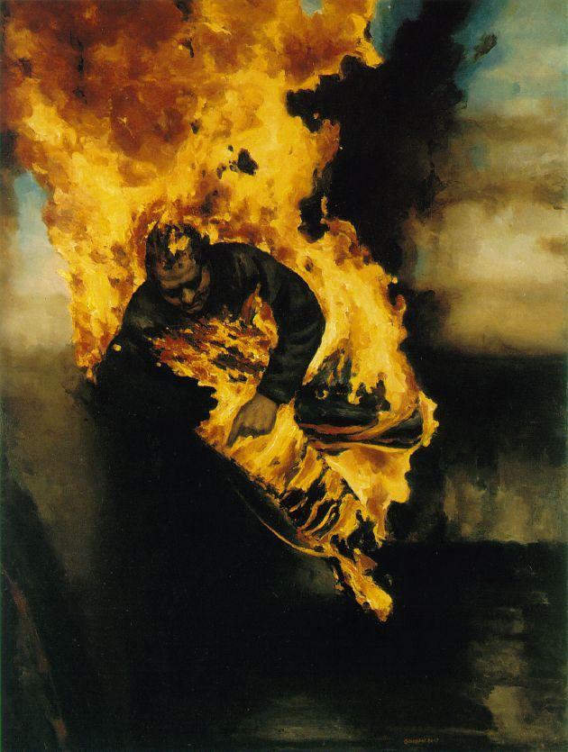 Sidney Goodman - Night Burn, 1986-87.