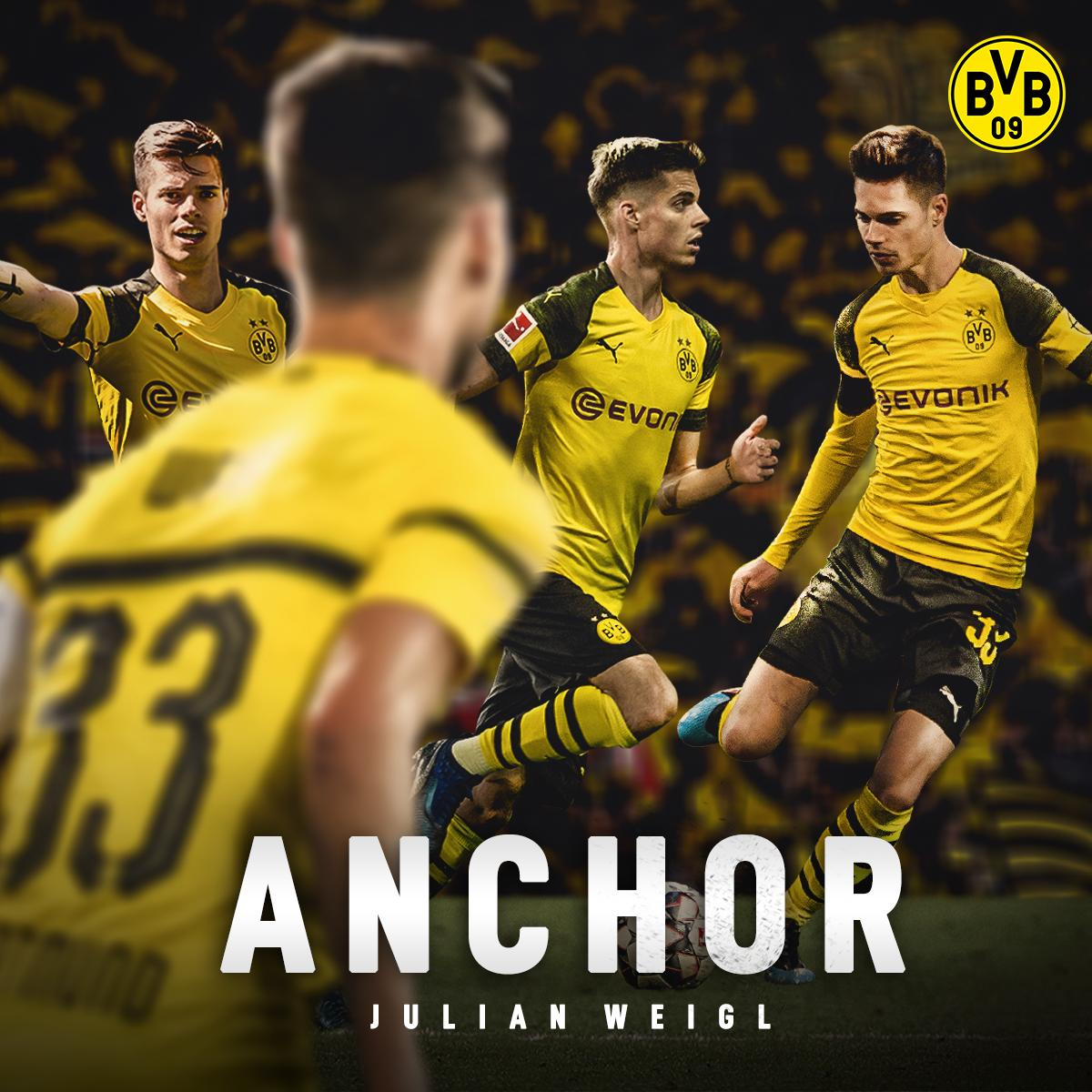 BVB has won all 8 games this season when Julian Weigl has started at defensive midfield ⚓️💪