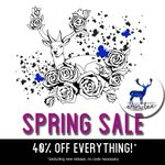 Image for the Tweet beginning: Spring Sale – 40% everything!