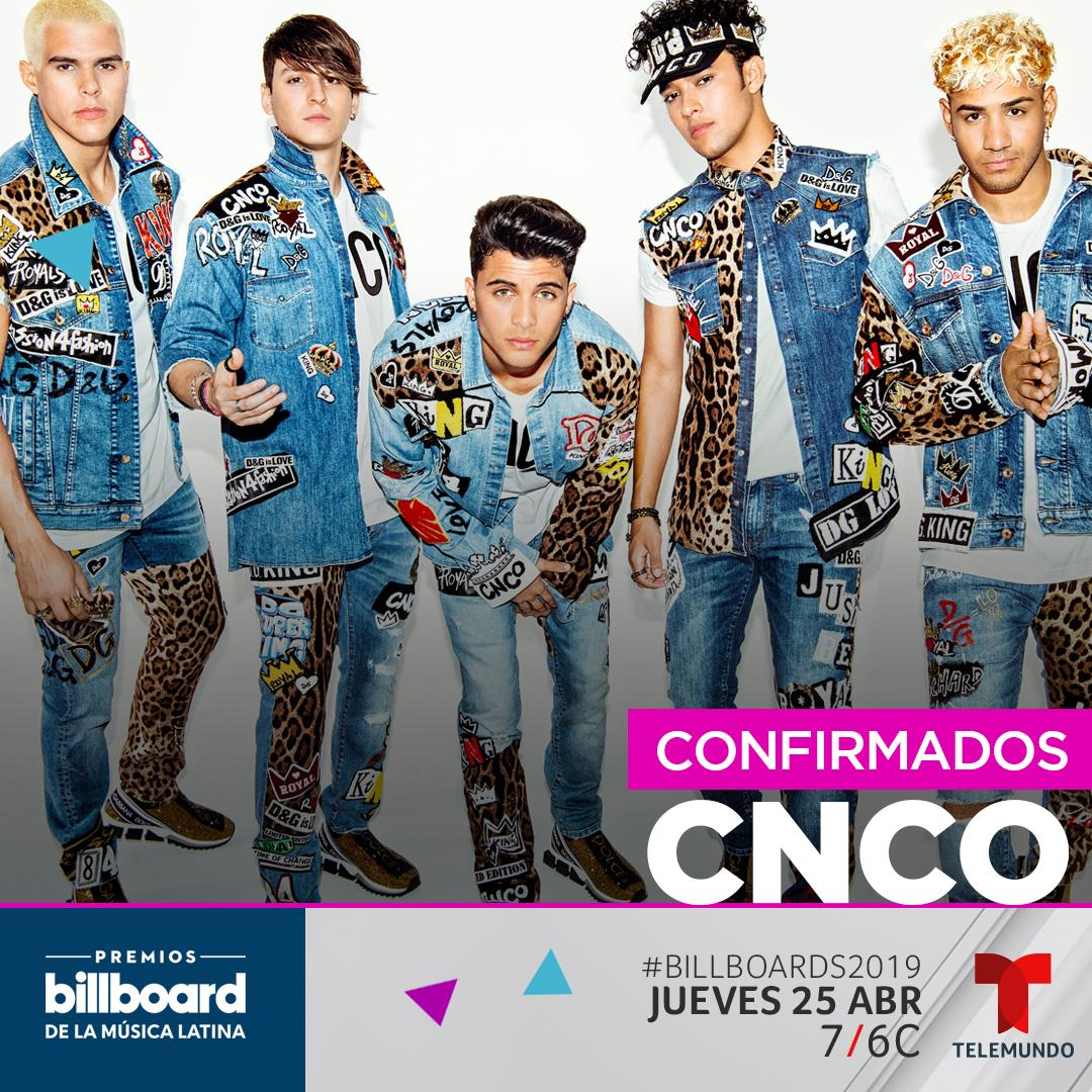 Want to see CNCO at the Billboard Latin Music Awards? Get your tickets here:  https:// blbrd.cm/L9ZjN5  &nbsp;   #Billboards2019 <br>http://pic.twitter.com/8xYZ37unkf