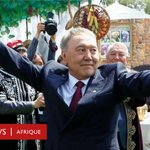 Image for the Tweet beginning: Le président du #Kazakhstan jette