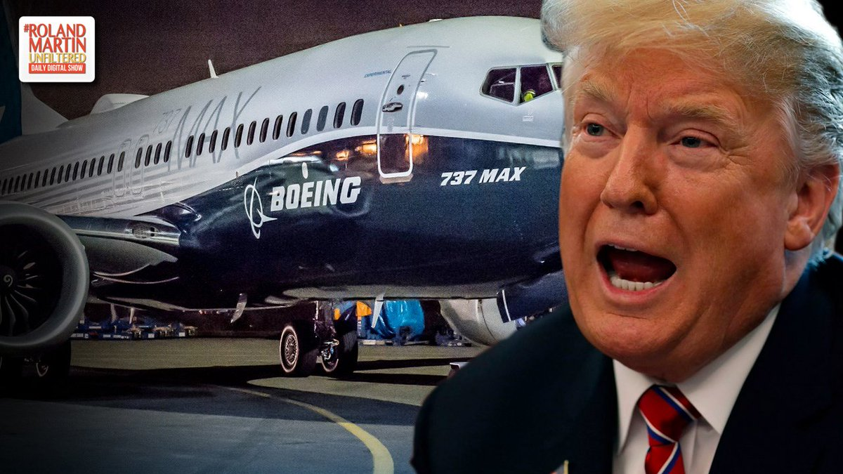 Why did it take so long for Trump to finally ground the Boeing 737 Max planes making the United States the last major country on Earth to do so?  https:// youtu.be/Rxvw7uJTpv8  &nbsp;   #RolandMartinUnfiltered <br>http://pic.twitter.com/5gcVAeU4Hk