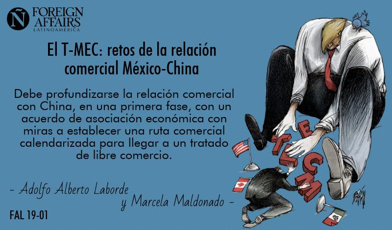 """En la #NuevaFAL escriben @adolfolaborde71 y @MarcelaBodart el artículo """"El T-MEC: retos de la relación comercial México-China"""" http://bit.ly/2RMobWE"""