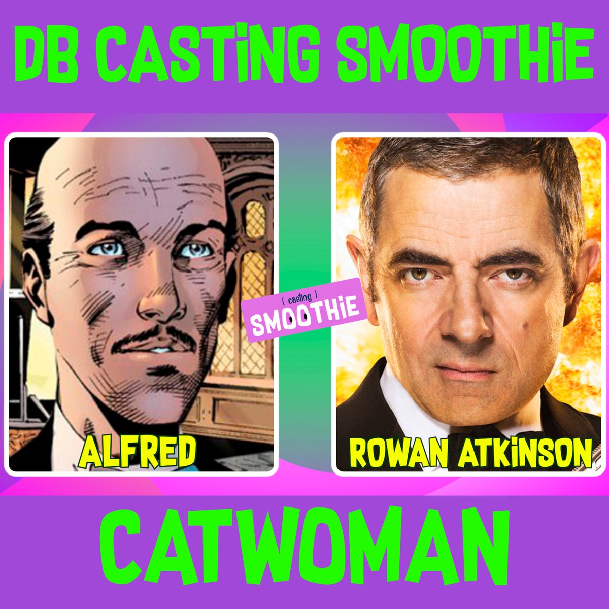 Rowan Atkinson as Alfred Pennyworth? Mr Bean as Alfred?  Do you think we could be soft in the head?    Please watch the Catwoman DB Casting Smoothie and tell us about it!  https:// youtu.be/hHffm_Dgmio  &nbsp;   #rowanatkinson #alfredpennyworth #mrbean #catwoman #castingsmoothie #Batman #dc<br>http://pic.twitter.com/9kyFEzCldC