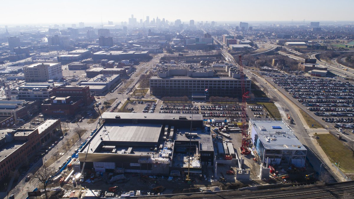 A little check in on the construction of the Henry Ford Detroit Pistons Performance Center.  Coming soon with @HenryFordNews!