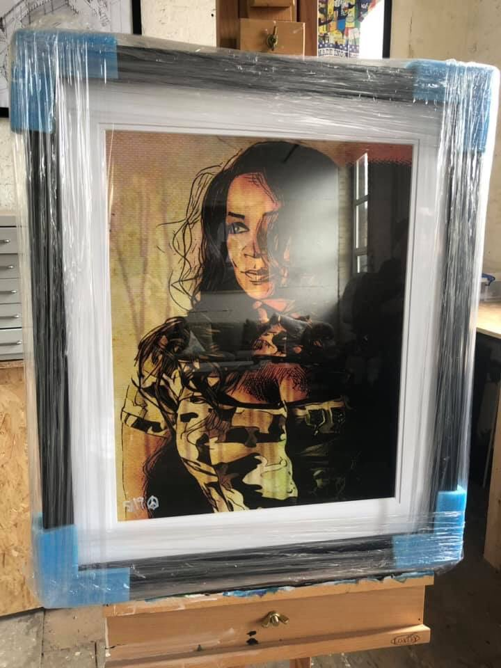 """Thank you once again @dionysusart """"To Celebrate moving into my studio, here's The Queen of Manchester Rowetta"""" . . Beautiful surprise and honour 🙌🏽❤️"""