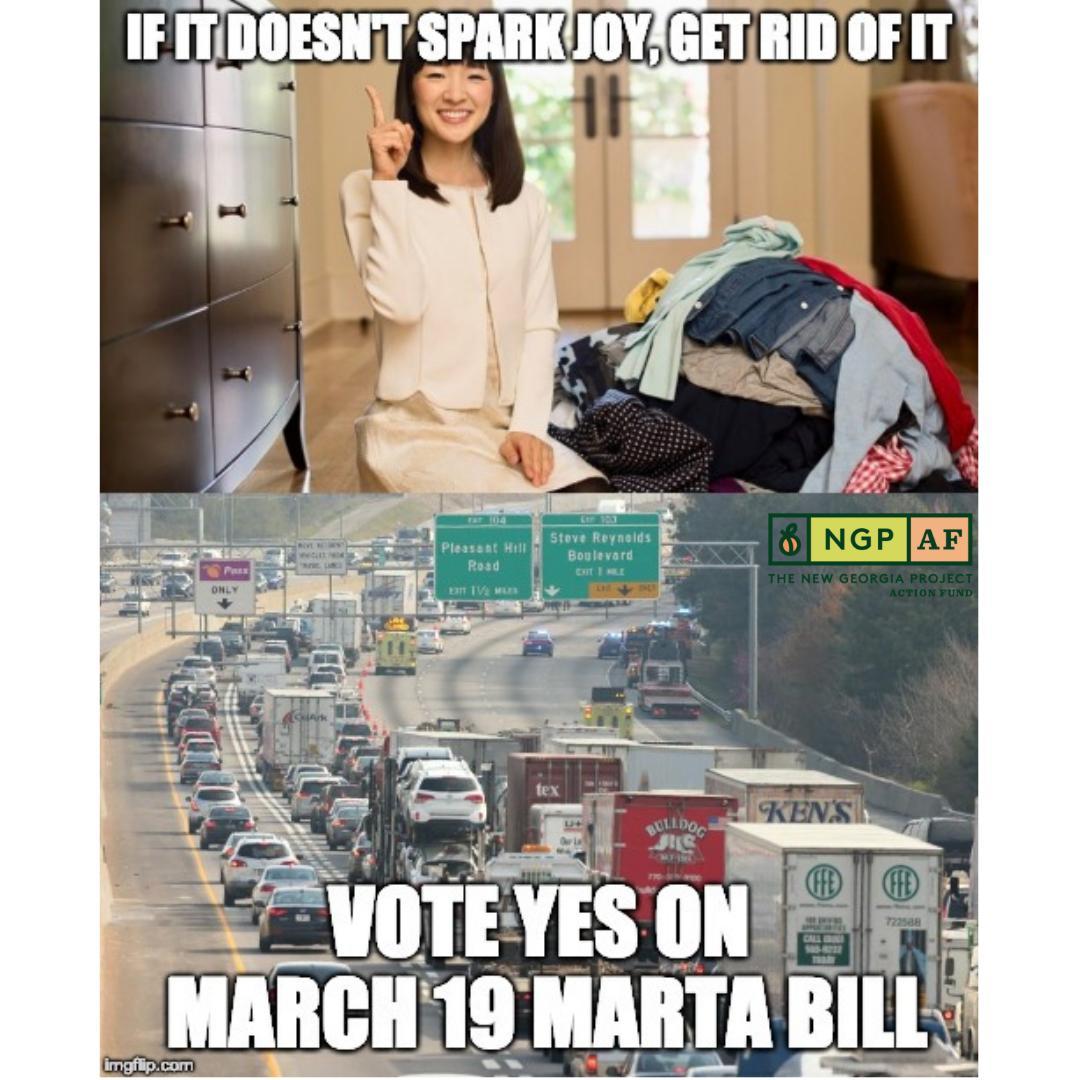Traffic does NOT spark Joy. #MARTA https://t.co/r0ksIKYVAq