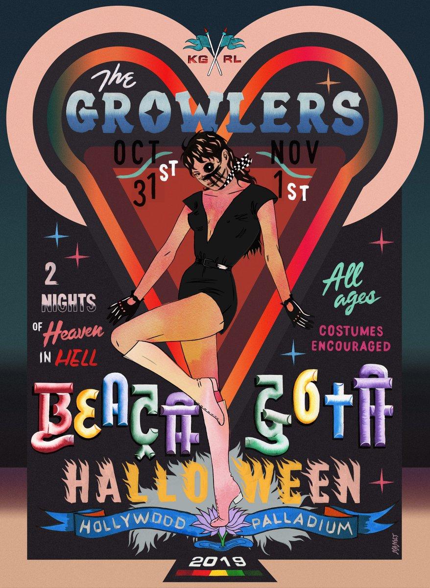 RT @theGROWLERS: Beach Goth Halloween On Sale This Friday, March 22, 10AM https://t.co/tI6G3hUeKu