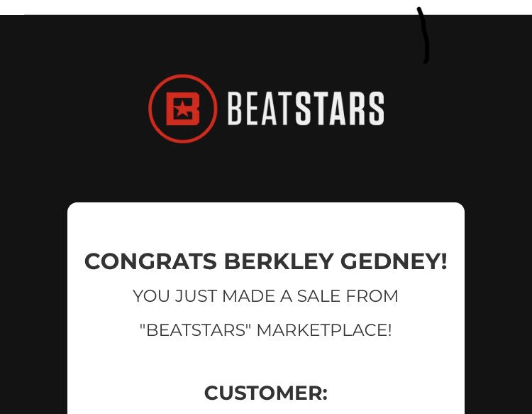 First sale of this month! Thank you @BeatStars 🙌