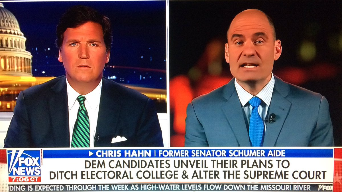 The Democrat proposals to eliminate the Electoral College and expand the Supreme Court amount to political gerrymandering. It's a craven attempt to steal power from the citizens, and impose partisan political beliefs for decades. #TuckerCarlson