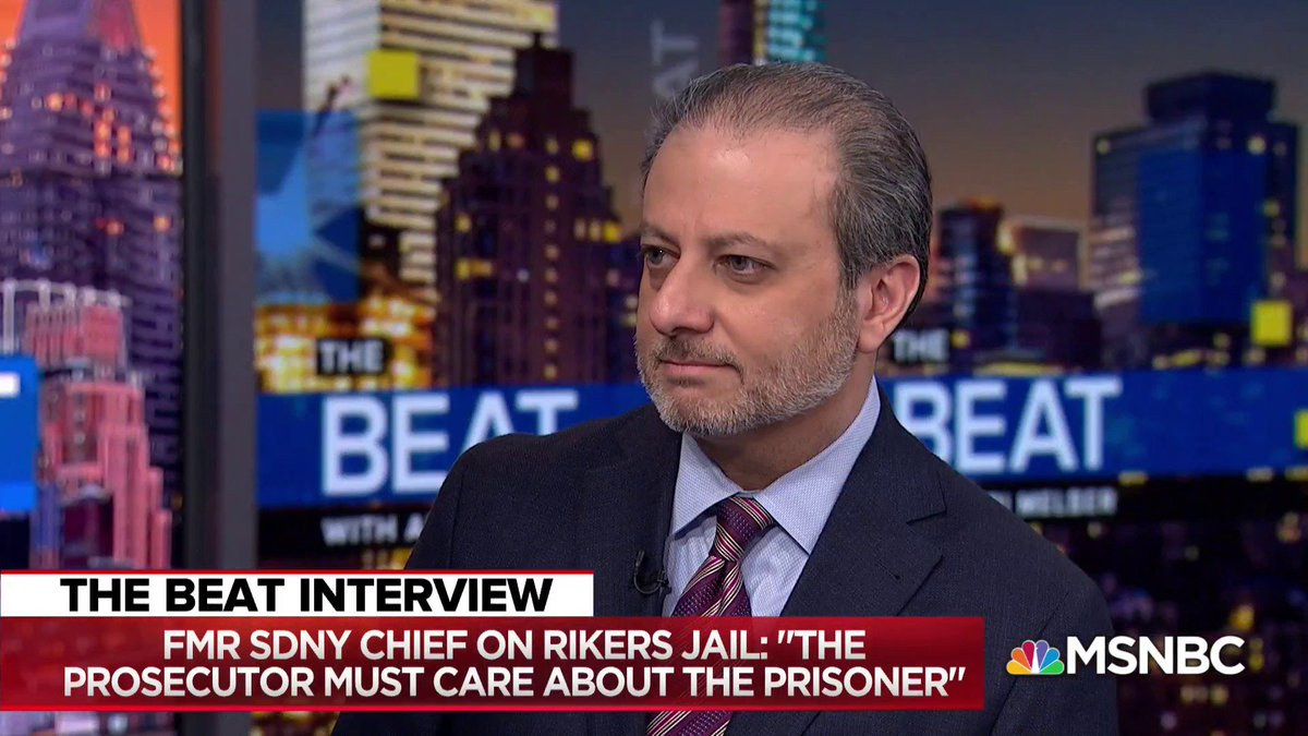 """""""There's been a movement to consider shutting it down and starting fresh with a new culture""""  Former U.S. Attorney for SDNY @PreetBharara says it may be time to consider closing brutal Rikers Island prison"""