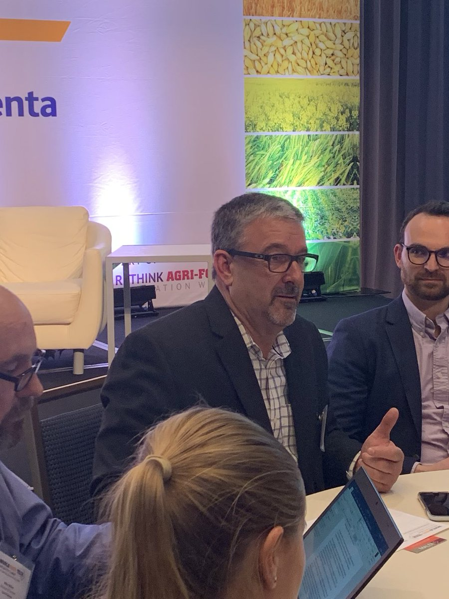 Great to see @PitstickFarms bringing the farmer perspective to #agritech and #agtechinvesting #worldAgriTech<br>http://pic.twitter.com/P6oYnrfXCi