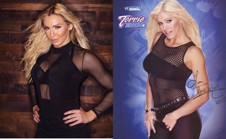 Charlotte Flair giving us her best Torrie Wilson!  <br>http://pic.twitter.com/WfVIxZzchF