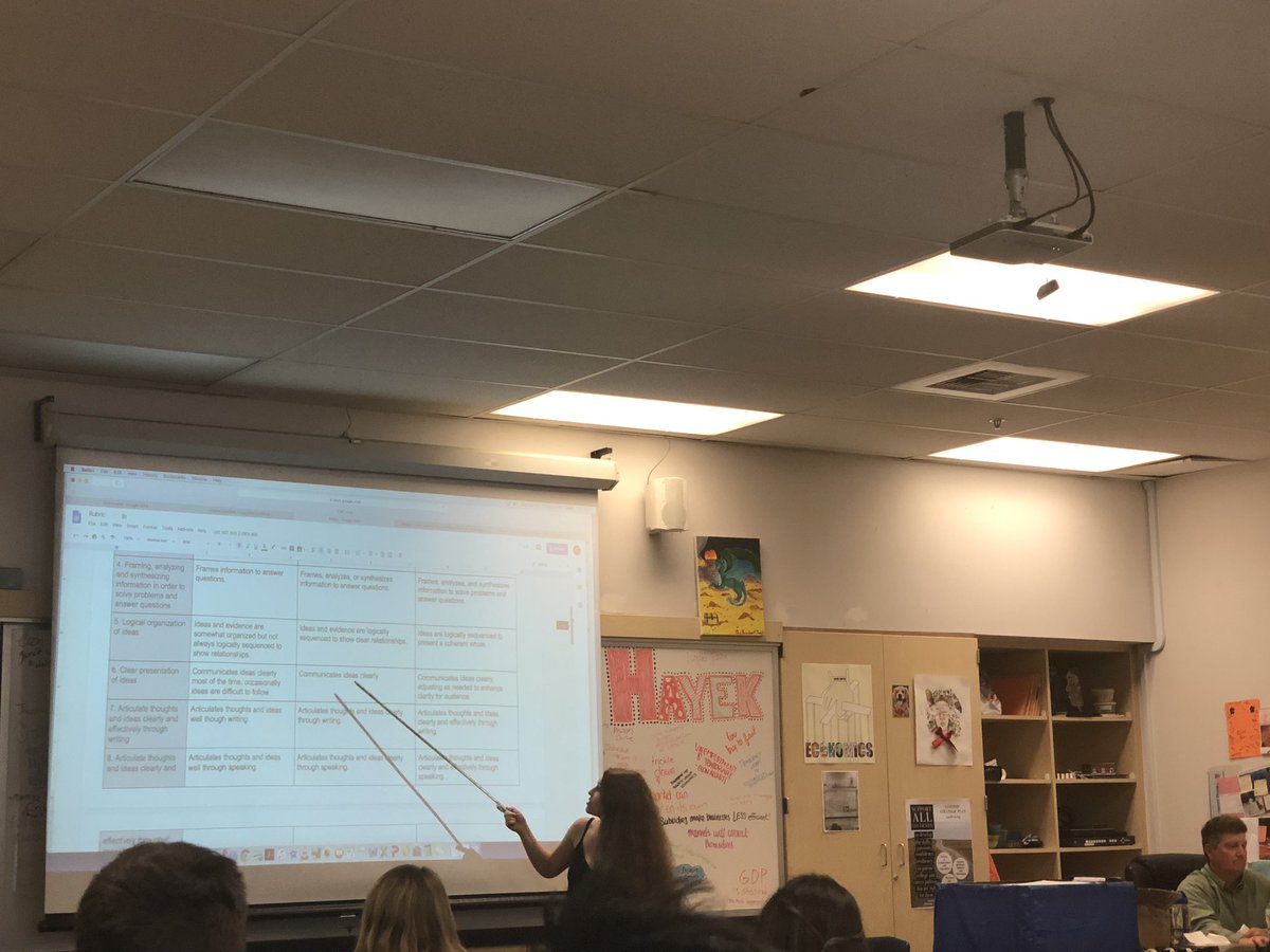 This rubric includes 21st century skills, communication, collaboration, information and media literacies, initiative, and more. This Student shares her rubric and process in developing it. Actively chose topics that would challenge herself. #1CoolThing #golgcats #lgsuhsd <br>http://pic.twitter.com/43hwhjPuHp