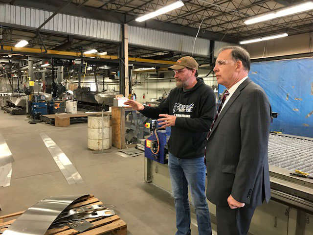 I had a great time in Mountain Home that included a visit to Excel Boats. It's a great facility w/dedicated hardworking employees who are driving the company's success. We had fun at PJ's Rainbow Cafe during lunch w/community leaders. Delicious food and good company. #Arkansas