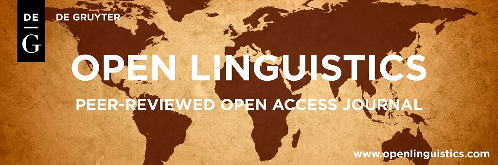 We are very glad to inform you that LANGUAGING DIVERSITY 2019 is proudly supported by De Gruyter's OPEN LINGUISTICS Journal (http://www.openlinguistics.com/)   We're still looking for highly PERSUASIVE proposals for our conference! :-) Come and join us in Teruel during LD2019!
