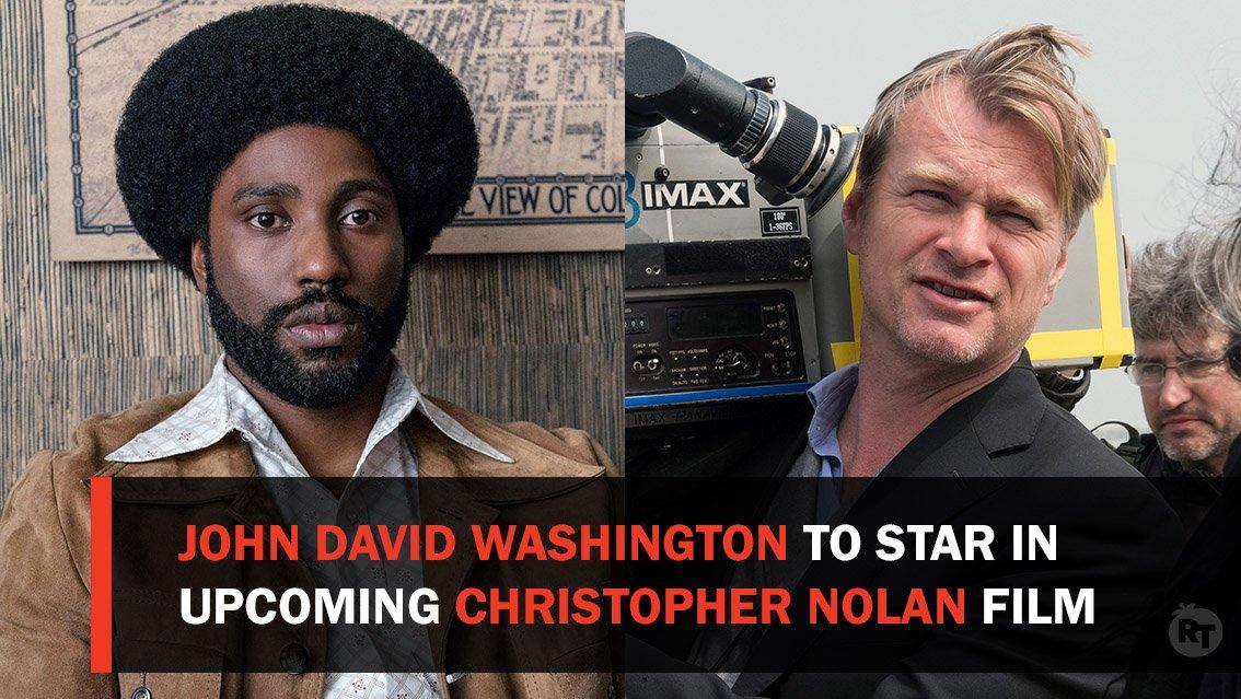 BlacKkKlansman star John David Washington will star in Christopher Nolan&#39;s next film.  The untitled &quot;event film&quot; is set for release July 17, 2020.  via @Variety<br>http://pic.twitter.com/v3MZbMv9jA